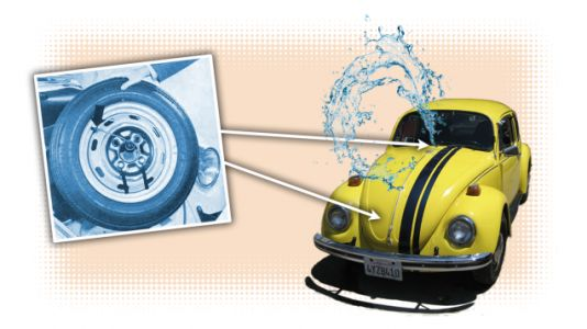 The Spare Tire Windshield Washer System in Old Volkswagens Is Both Ridiculous and Clever