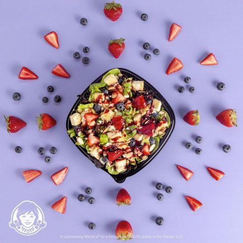 Wendy's New Berry Burst Chicken Salad: Made Fresh. Delivered Free