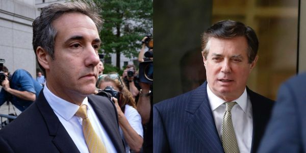 While Michael Cohen cooperates with Mueller probe, Paul Manafort appears to be betting on a presidential pardon