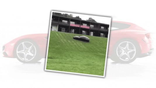 Watch a Ferrari FF Cavort in the Grass Like a Baby Goat