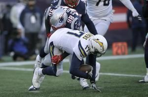 Chargers defense a no-show in playoff loss to Patriots