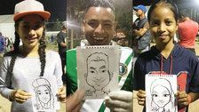 Artist's Portraits Show Migrant Caravan's Hope, Joy: 'These Are Regular People'