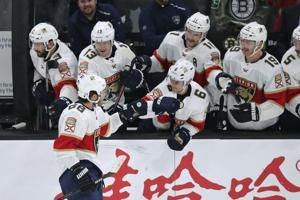 Panthers rally from 4 down, beat Bruins 5-4 in shootout