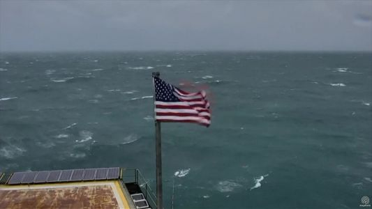 US flag that caused waves during Hurricane Florence going for thousands at auction