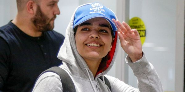 The family of the Saudi teen who got asylum in Canada has publicly disowned her