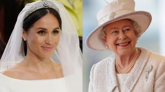 The Queen Was Reportedly 'Surprised' Meghan Markle Wore White To Her Own Wedding