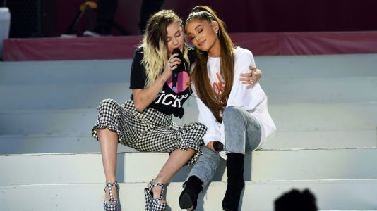 Miley Cyrus Sent A Sweet Text To Say 'Someone Loves You' After Ariana Grande And Pete Davidson Broke Up