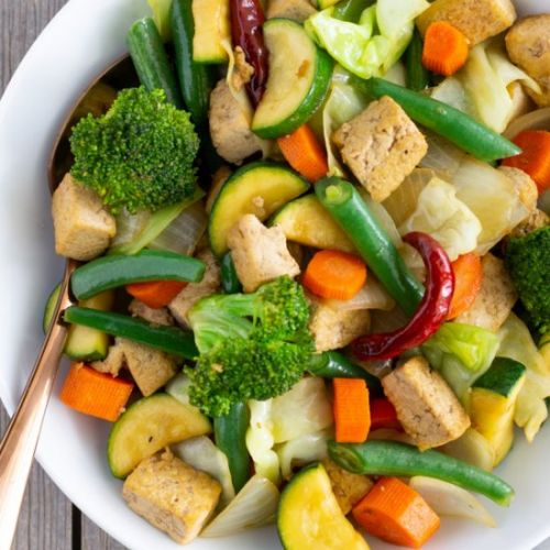 Tofu and Vegetable Stir Fry