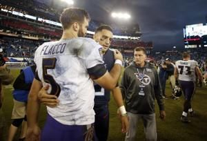 Ravens pile up team-record 11 sacks against former coach