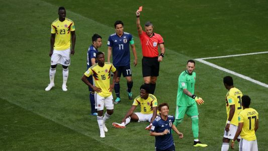 World Cup 2018: Early Colombia red card helps lift Japan to victory