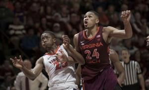 No. 3 Virginia finishes sweep of No. 20 Virginia Tech, 64-58