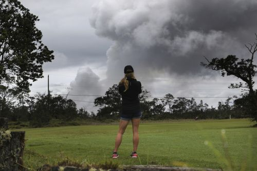 'Excited and scared': Hawaii volcano spews huge cloud of ash