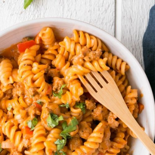Roasted Red Pepper & Tomato Pasta