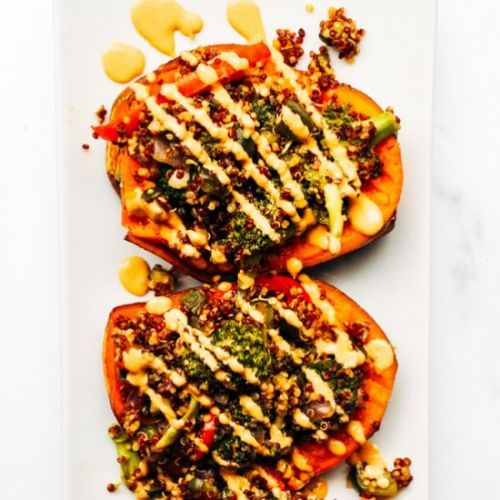 Vegan Stuffed Sweet Potatoes