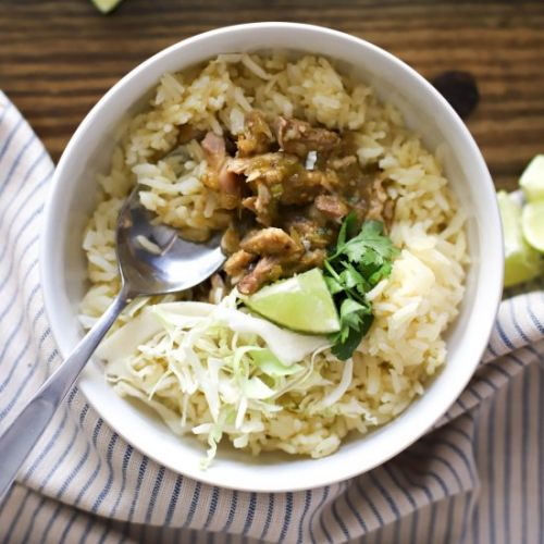 Tomatillo Chicken and Rice