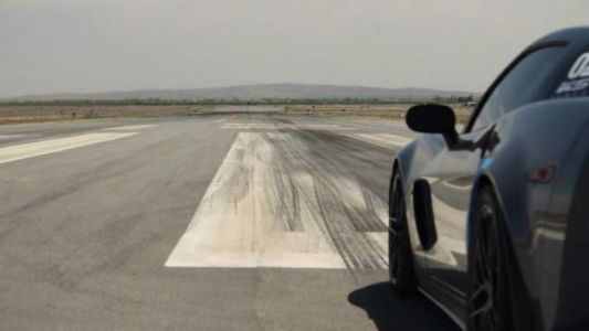 Happiness is an angry V8 and a wide open runway