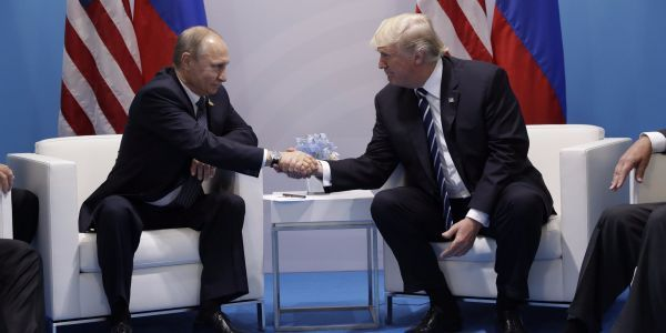 Trump says Putin isn't his enemy - and that 'hopefully some day maybe he'll be a friend'