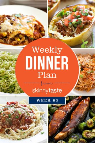 Skinnytaste Dinner Plan
