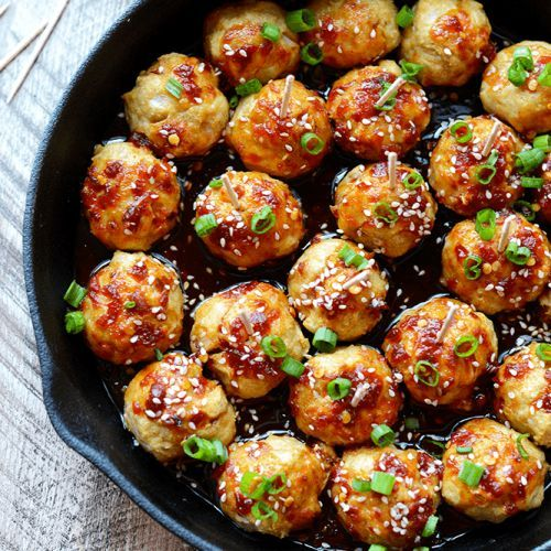 Kung Pao Baked Chicken Meatballs
