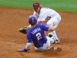 Peterson helps LSU outlast South Carolina 6-4 in 12 innings