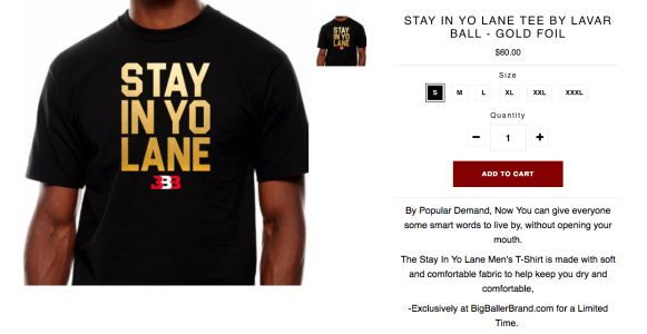LaVar Ball uses Trump feud to market $60 t-shirt