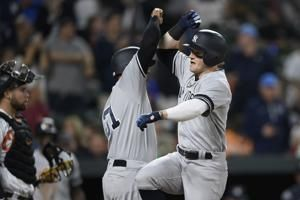 Frazier 2 HRs, 5 RBIs carry Yankees past Orioles 11-4