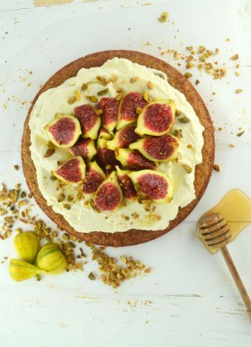 Almond Fig Cake with Whipped Mascarpone