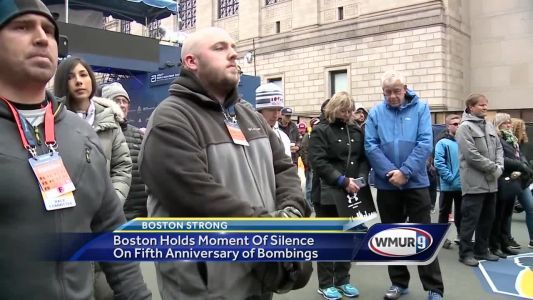 Boston holds moment of silence on fifth anniversary of marathon bombing