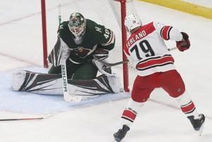 Aho gets 2nd goal in OT, Hurricanes beat Wild 5-4