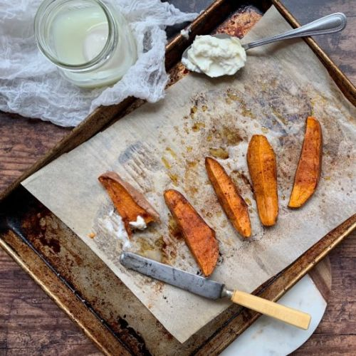Baked Sweet Potato with Burrata