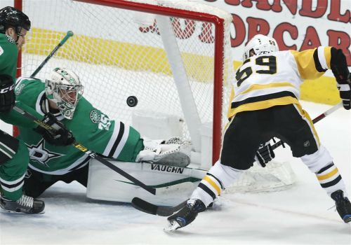 No late goal this time, as Penguins, Murray hold off Stars, 3-2