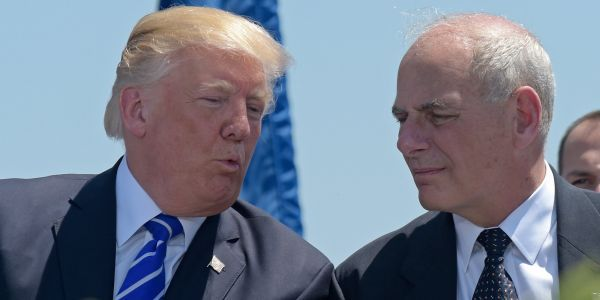 Trump tweets that John Kelly is doing a 'fantastic job' amid report that the relationship between them is 'past the point of no return'