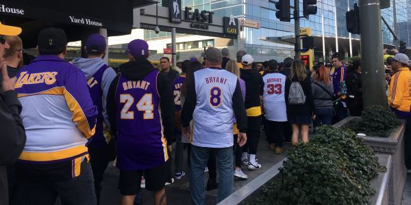 People took drastic measures to be among Lakers fans for Kobe Bryant's memorial - even though they didn't have tickets
