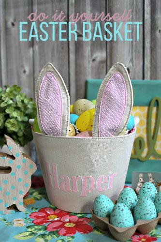 Personalized Easter Basket with HTV World