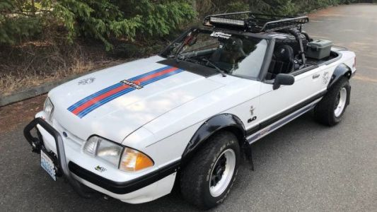 """Could This Zany 1991 """"Baja"""" Ford Mustang Get You to Pony Up $5,500?"""