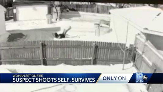 GRAPHIC VIDEO: Man accused of setting girlfriend on fire shoots self, survives