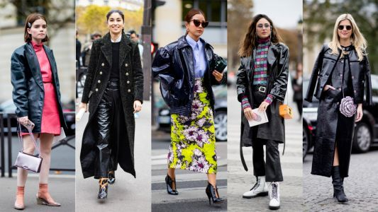 Shiny Patent Leather Took Center Stage on the Last Day of Paris Fashion Week