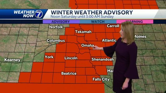 Heavy snow and strong winds likely Saturday afternoon