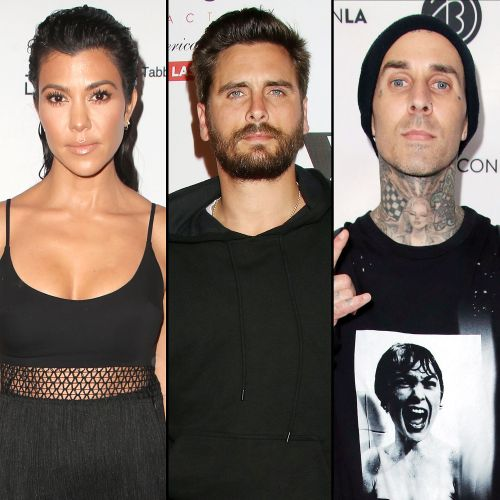 Kourtney Kardashian Shares Family Text With Scott Disick About 'Kindness' After Travis Barker Engagement