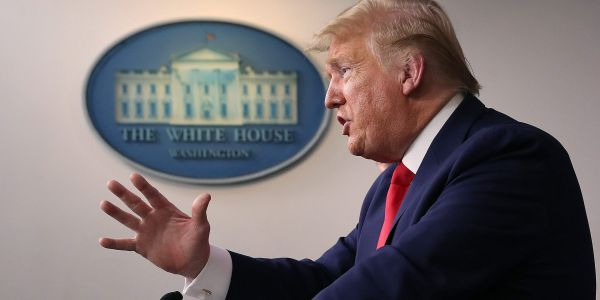 Trump falsely claims he 'didn't lie' to the American people about the coronavirus when confronted by a reporter