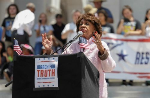 Donald Trump can't destroy the fabric of our nation alone. Democrat Maxine Waters just signed up to help him