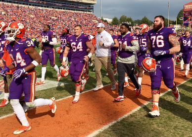 Clemson overwhelms Citadel on Military Appreciation Day