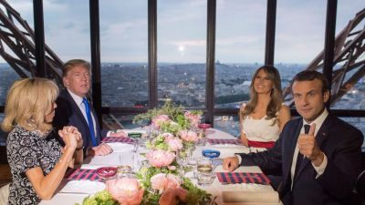 Fast-Food Lover Donald Trump Enjoys Michelin-Starred Meal Atop the Eiffel Tower
