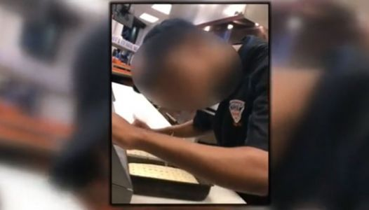 Ballpark worker arrested after video shows him spitting on pizza