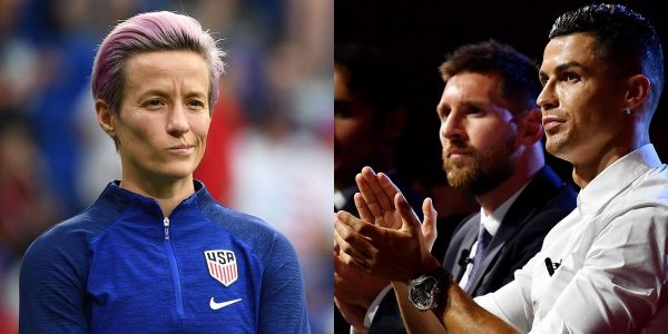 Megan Rapinoe calls out Lionel Messi, Cristiano Ronaldo, and Zlatan Ibrahimovic to do more to fight racism and sexism