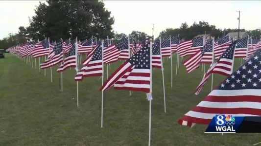 500 American flags displayed in Hanover to commemorate 9/11 anniversary