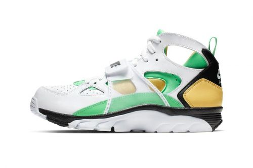 "Nike Gives the Air Trainer Huarache a ""Topaz Gold/Electro Green"" Makeover"
