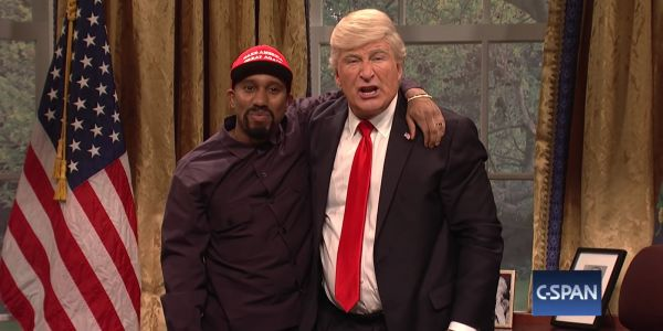 'SNL' spoofs Kanye West's bizarre Oval Office meeting with Trump