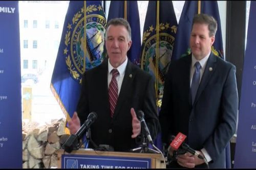 Raw video: Republican governors of Vermont, NH announce paid family leave