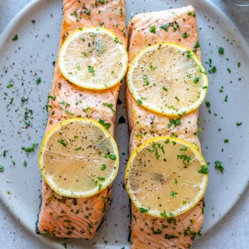 LEMON GARLIC SALMON